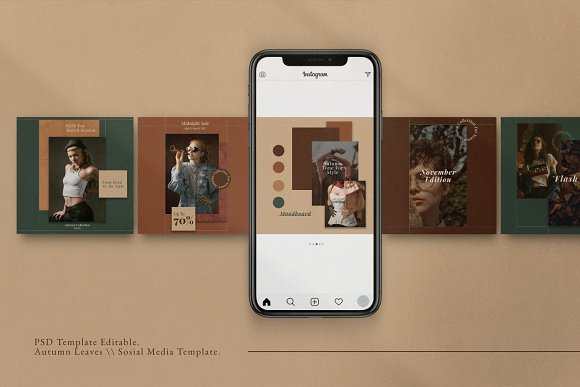 Autumn - Social Media Post + Stories in Instagram Templates - product preview 3
