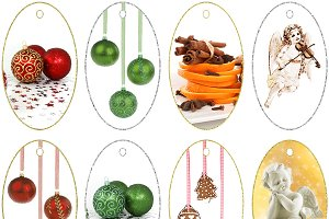 12 Digital Christmas Tags