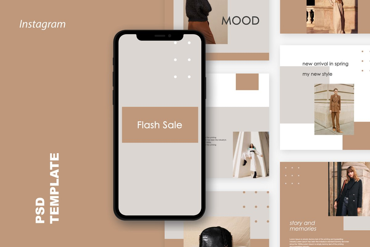 Mandalika - Instagram Pack Template in Instagram Templates - product preview 1