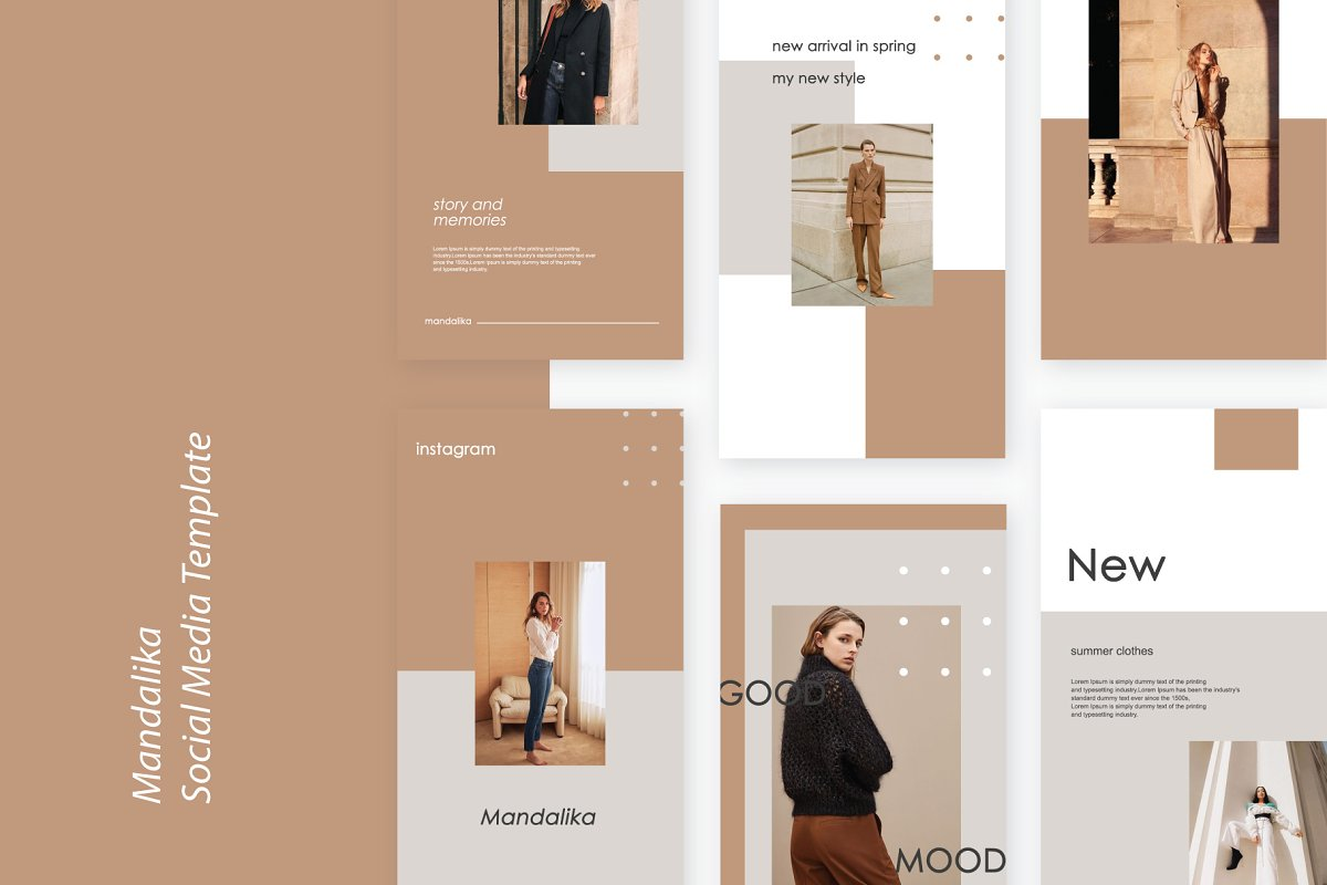 Mandalika - Instagram Pack Template in Instagram Templates - product preview 9