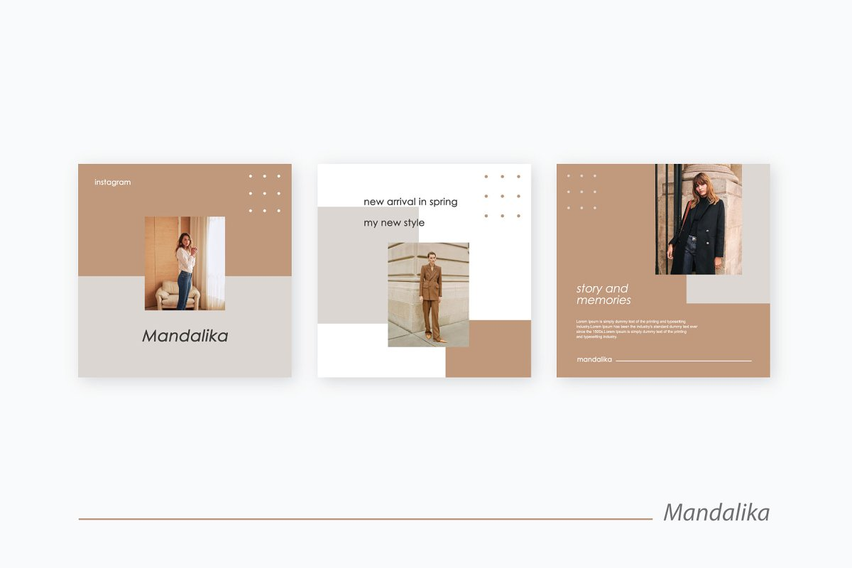 Mandalika - Instagram Pack Template in Instagram Templates - product preview 2
