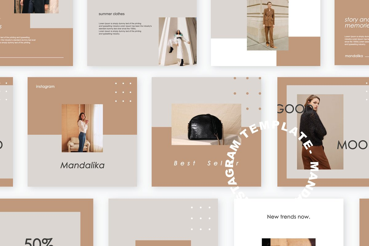 Mandalika - Instagram Pack Template in Instagram Templates - product preview 7