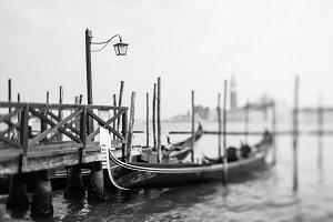 Tilt shift photo of Venice, Italy