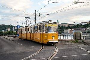 Yellow Tram in summer