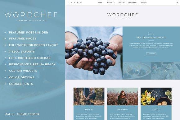 WordChef - A WordPress Blog Theme
