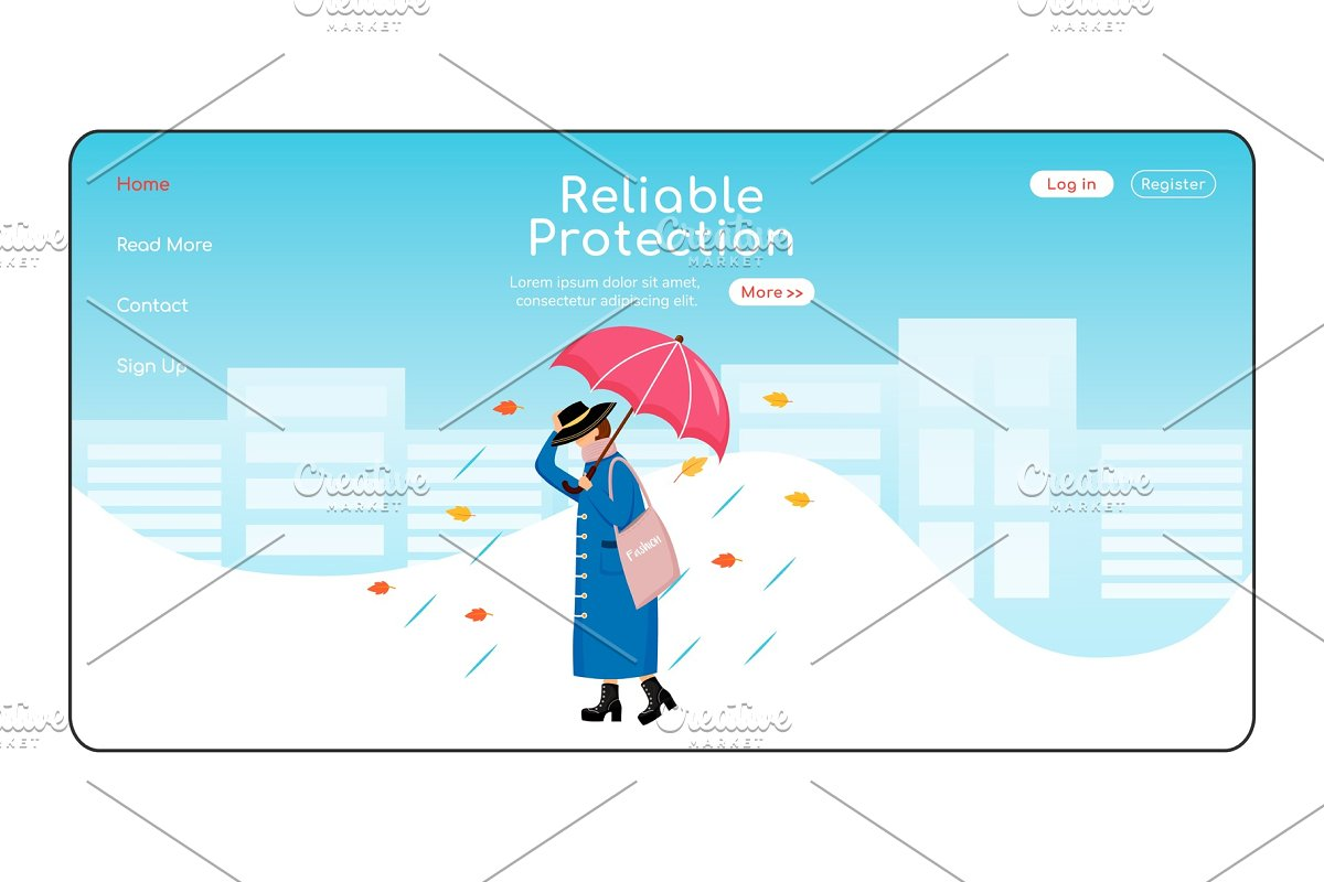 Reliable protection landing page