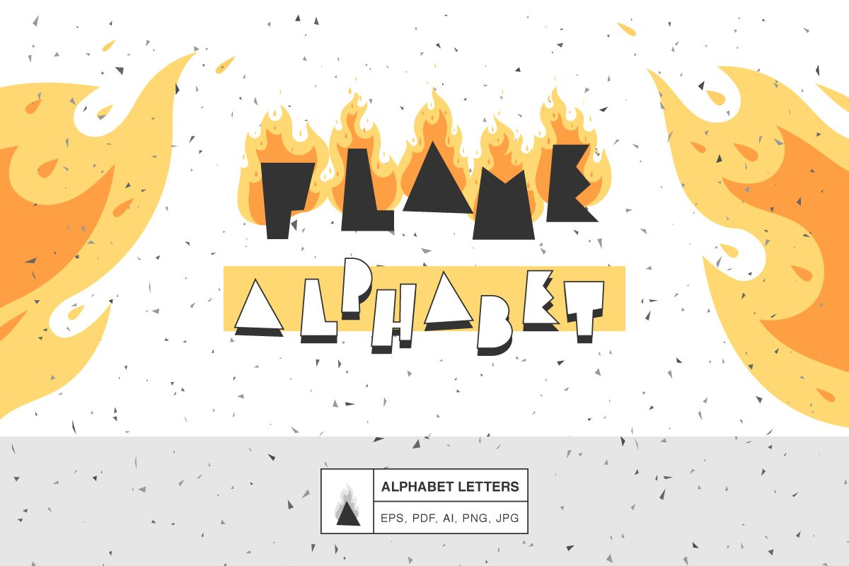 Alphabet of the flame in Objects