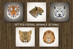 Set of polygonal animals