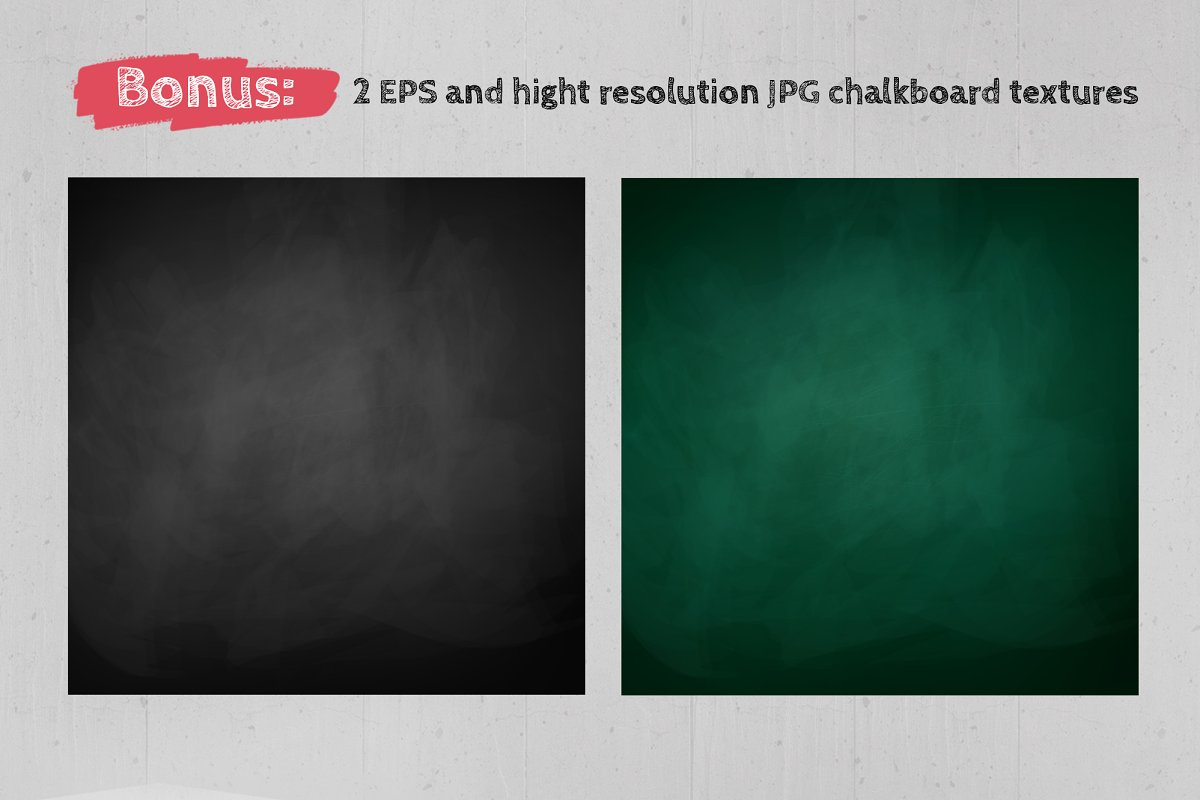 Chalked education set (color) in Objects - product preview 6