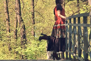 Woman and bridge
