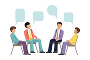 Group therapy concept. Psychotherapy