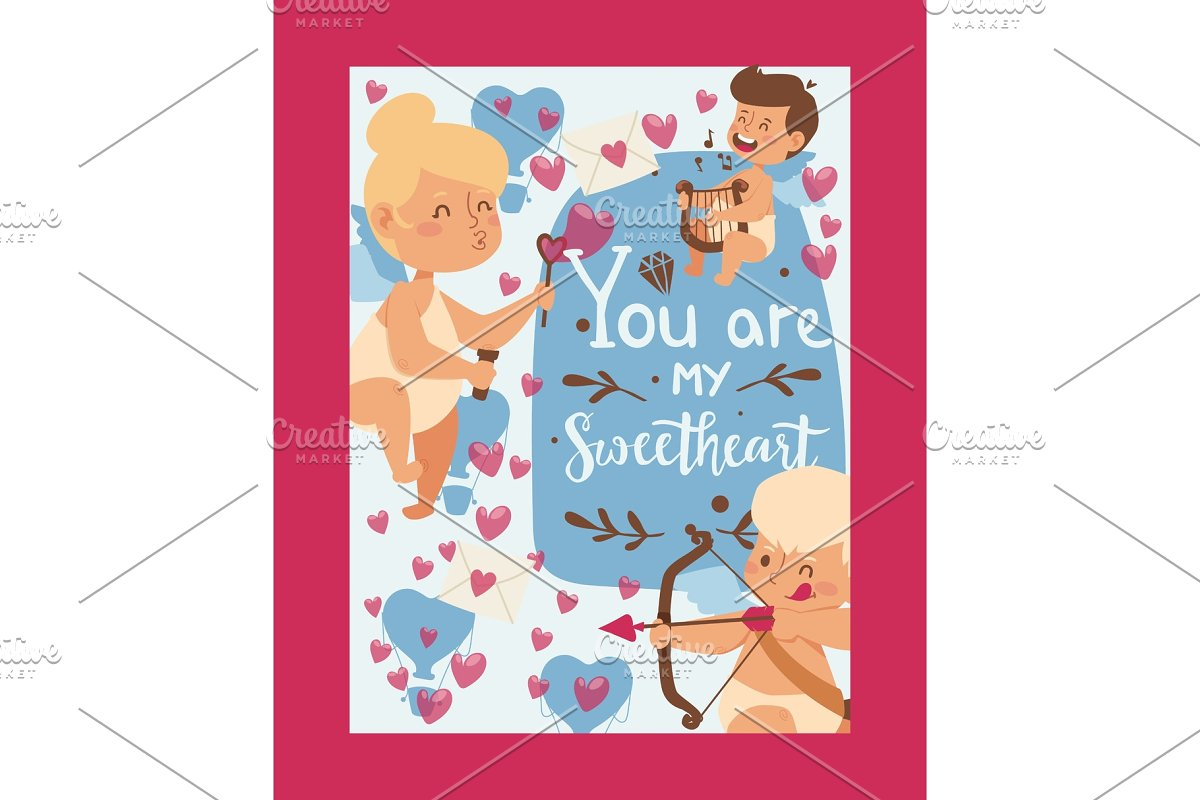 Valentine day typographic poster