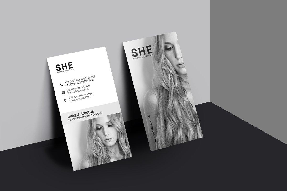 She Women Fashion Business Card