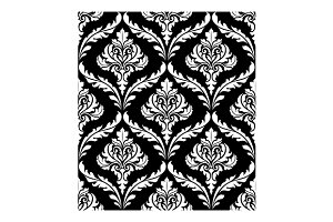 Seamless arabesque design in black a