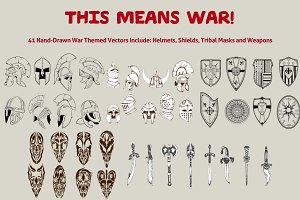 This Means War! 41 War Theme Vectors
