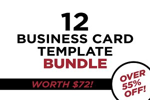 Business Card Bundle - 12 Templates