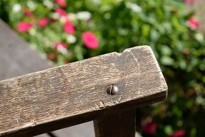 Weathered Rocking Chair Arm