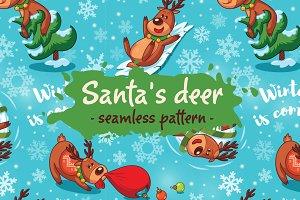 Santa's deer pattern