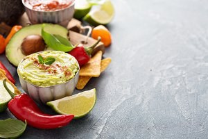 Mexican cuisine ingredients