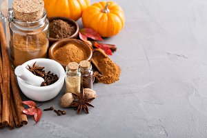 Homemade mix of spices in a jar