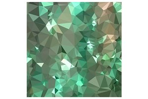 Caribbean Green Abstract Low Polygon