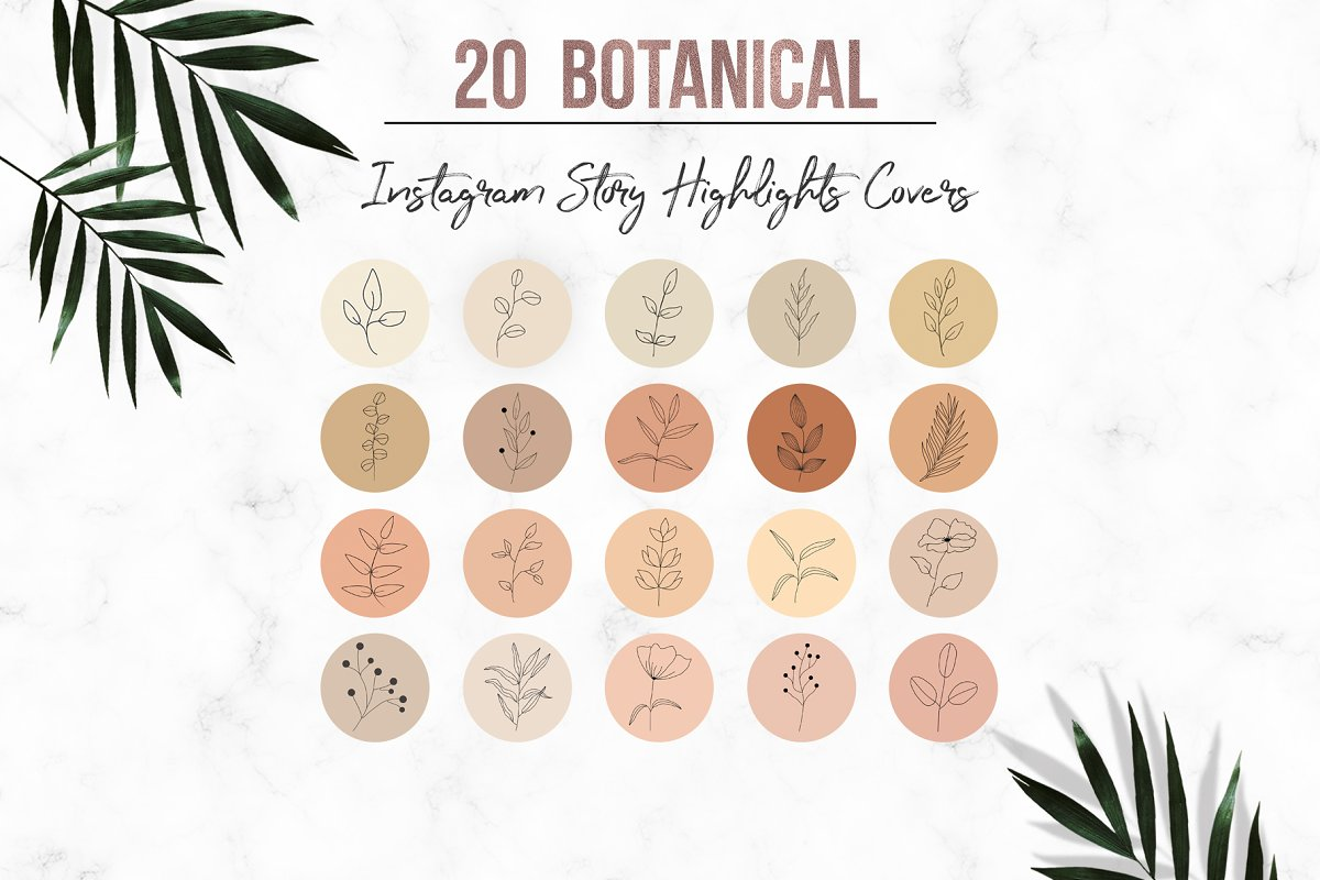 Botanical Instagram Story Highlight
