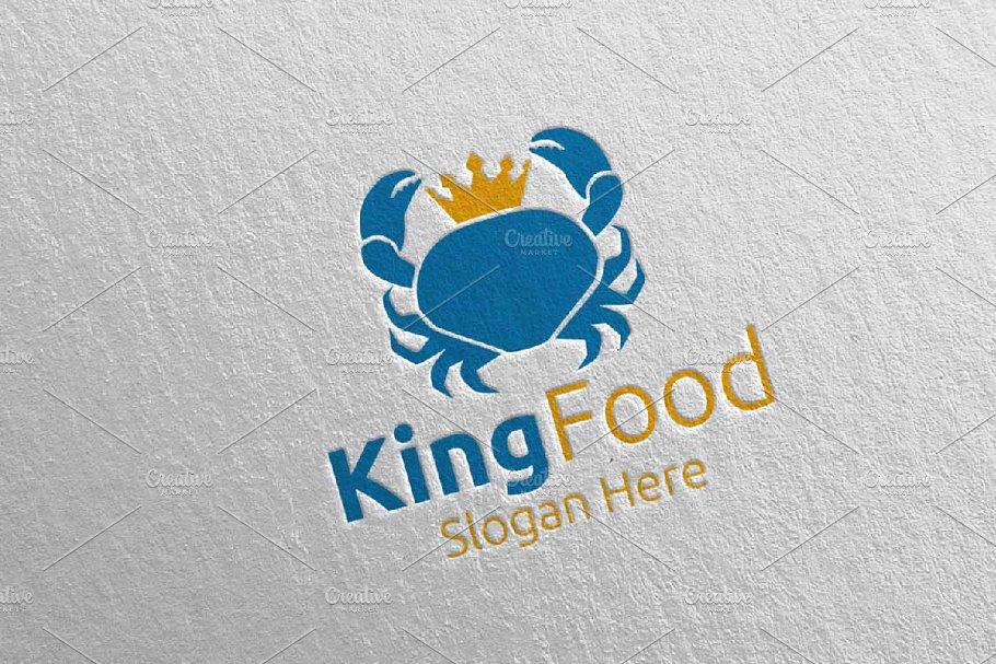 King Crab Seafood Logo Restaurant 91