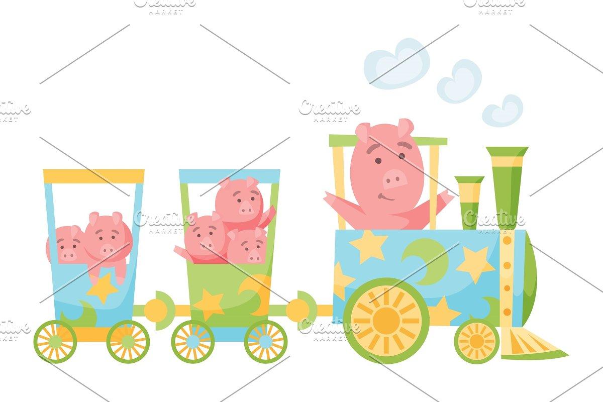 Cartoon set with different animals