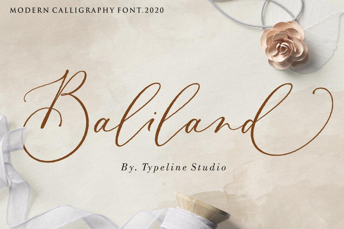 Baliland Modern Calligraphy Font.