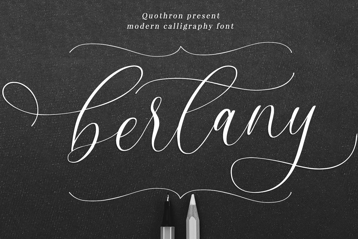 Bertany - Modern calligraphy font