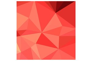 Portland Orange Abstract Low Polygon