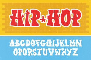 Graffiti letters vector set