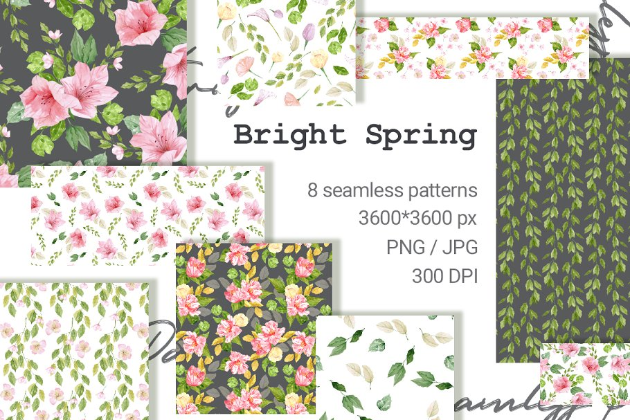 Bright Spring Pattern Collection