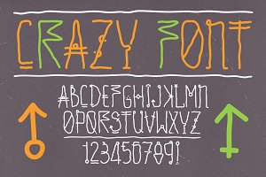 "Hand drawn vector ""crazy font"""