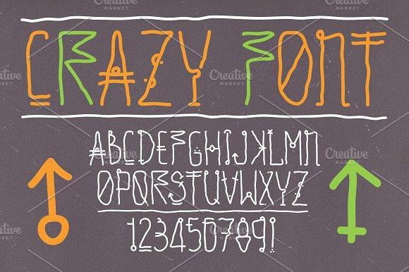 Hand Drawn Vector Crazy Font Illustrations Creative Market