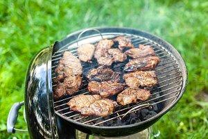 Grilling pork meat