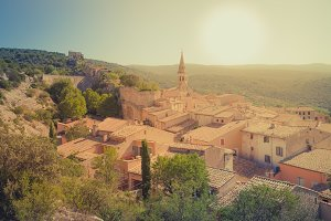 View of Saint Saturnin d Apt