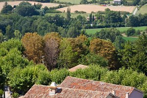 French small town view