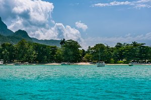 Tropical beach at Mahe island