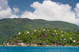 View of Seychelles coastline