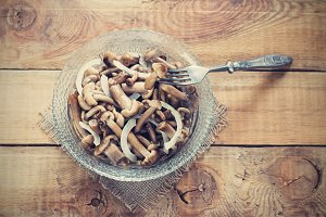 Canned Marinated Honey Fungus