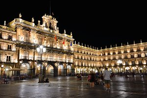 Plaza Mayor of Salamanca in Spain.
