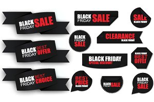 Black Friday Sale Banners, Stickers