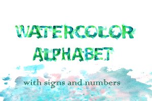 Sea...watercolor alphabet