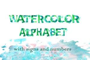 Sea...watercolor alphabet