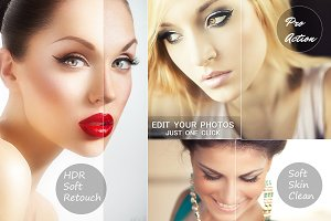 HDR Soft Retouch Photo Action