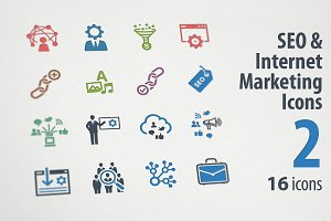 SEO & Internet Marketing Icons 2