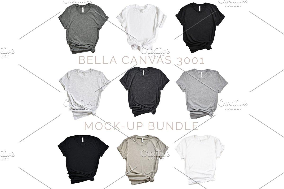 Bella Canvas 3001 Mock-up Bundle