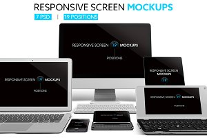Responsive Screen Mockups
