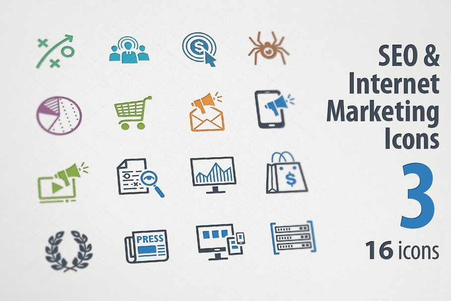 SEO & Internet Marketing Icons 3
